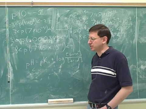 Chemistry: Buffer solutions. Logarithms (12)
