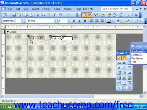 Access 2003 Tutorial Viewing the Ruler and Gridlines Microsoft Training Lesson 10.7