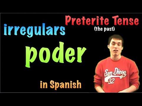 02 Spanish Lesson - Preterite - Irregulars - Poder