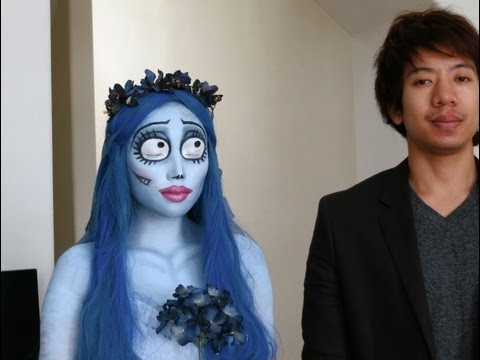 Emily (Corpse Bride) Halloween Make-up Look 1