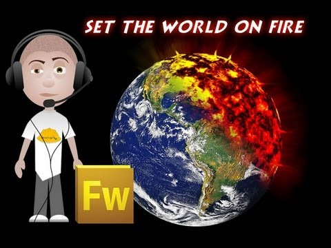 Fireworks CS5 Doomsday Earth 2012 Apocalypse Fire Planet Graphics Tutorial