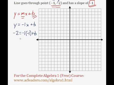 (Algebra 1) Linear Equations - Determining Linear Equations Pt. 1