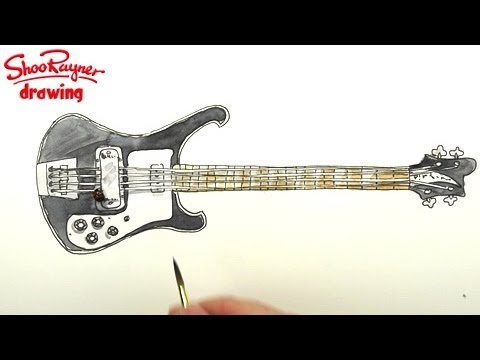 How to draw a Rickenbacker Bass Guitar