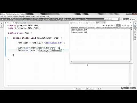 Java tutorial: Using the Path class | lynda.com