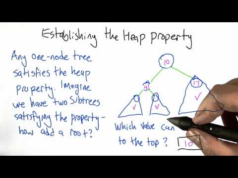 Establishing the Heap Property Solution - Algorithms - Statistics - Udacity