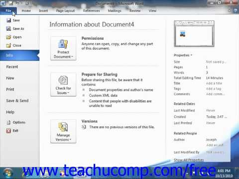 Word 2010 Tutorial The Ribbon Microsoft Training Lesson 1.5