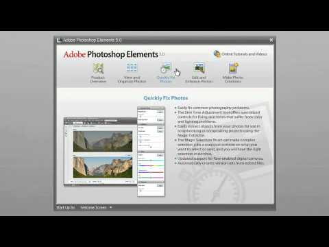 Total Training for Adobe Photoshop Elements 5  Ch 2 L1 The Welcome Screen