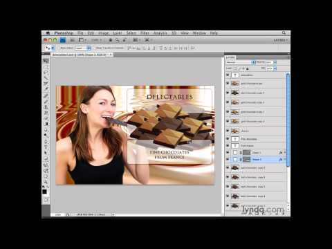 Photoshop: Selecting from a contextual menu | lynda.com