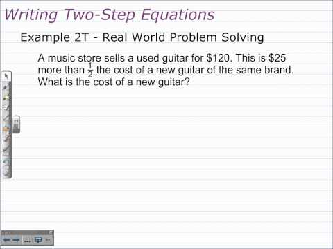 Writing and Solving Two-Step Equations | Algebra 1 Math Help