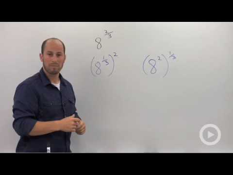 Algebra 2 - Evaluating Rational Exponents