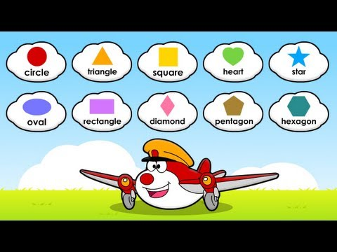 Learn Shapes for Children: Little Flyers