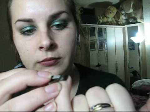 CHANEL BLACK SATIN & MAC SILVER GLITTER  nail art tutorial