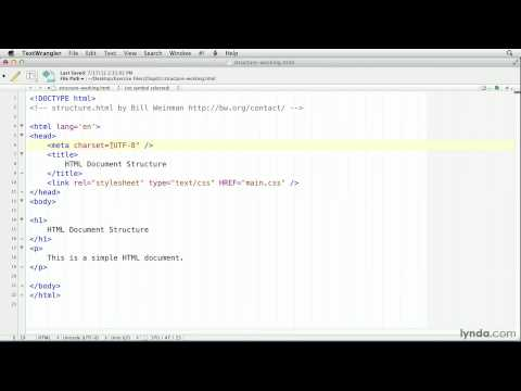 HTML tutorial: Understanding tags and containers | lynda.com
