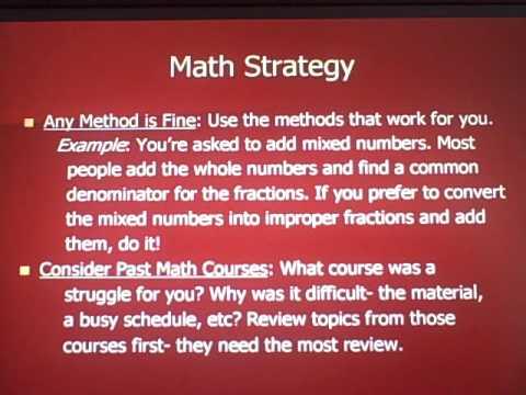 ACT Math Part One