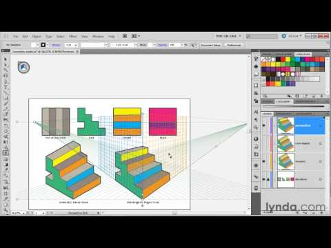 Illustrator overview: Introducing the Perspective Grid | lynda.com