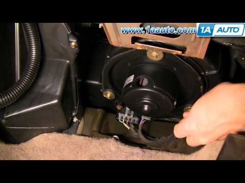 How To Install Replace A/C Heater Fan Blower Motor Chevy Malibu 97-03 1AAuto.com