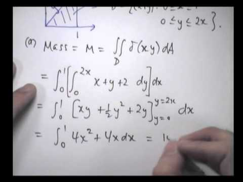 Applications of double integrals: examples