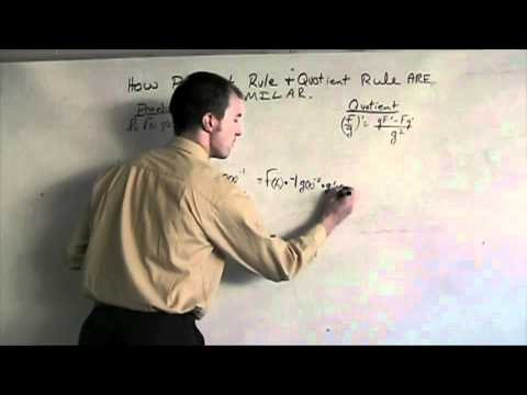 Calc - How Product and Quotient rules are similar