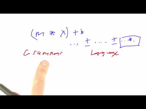 Writing grammar - CS212 Unit 3 - Udacity
