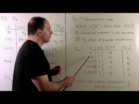 GT18. Conjugacy and The Class Equation