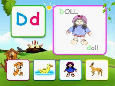 Alphabet reading for kids with  words - D