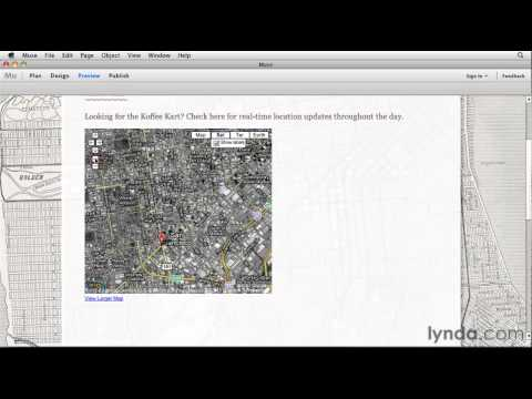 Muse tutorial: Embedding a Google map | lynda.com