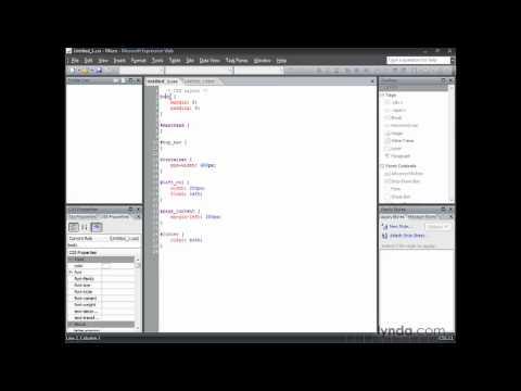 Expression Web: Understanding basic selectors | lynda.com