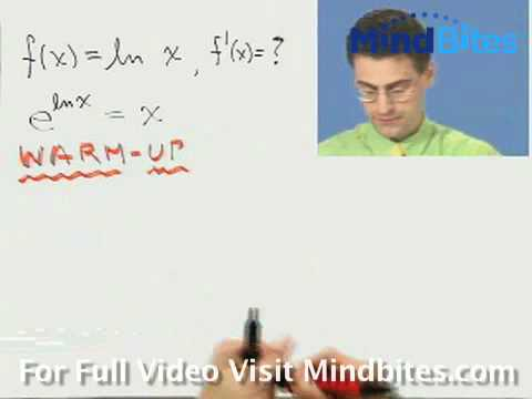 Calculus: Derivative of the Natural Log Function