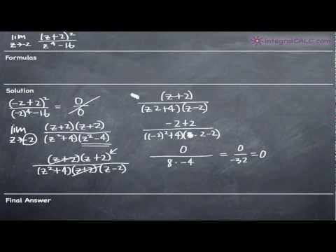 Limits - Factoring Method Example 5