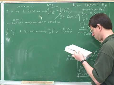 Nuclear chemistry. Binding energy (4)