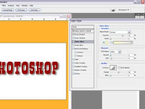 How to use Layers Blending Options In Adobe Photoshop Cs3