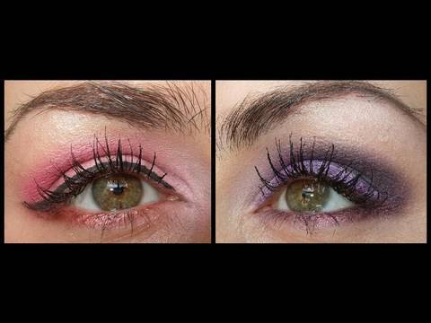 Prom make up sweet pink & purple smokey