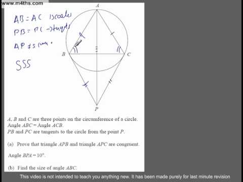 (Q246) A Star GCSE Revision Questions Tough Circle Theorem