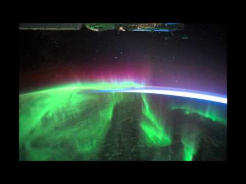 The Fires Below - an aurora seen by the International Space Station
