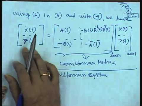Mod-01 Lec-38 Lecture-38-Performance Indices and Linear Quadratic Regulator Problem (Contd.)