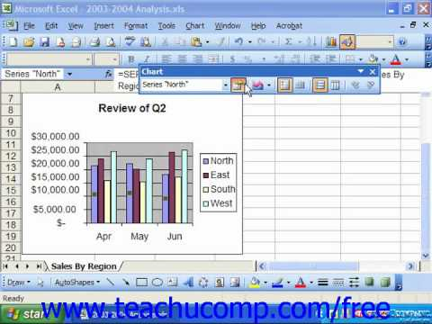 Excel 2003 Tutorial The Chart Toolbar Microsoft Training Lesson 21.3