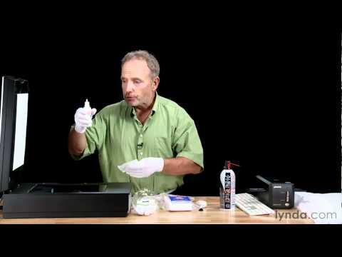How to clean a scanner   lynda.com tutorial