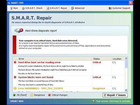 Remove S.M.A.R.T HDD 2012 Rogue Malware by Britec