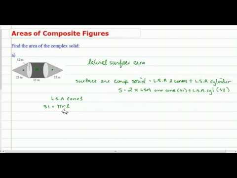 Surface Areas of Composite Figures (Pyramids & Cones)