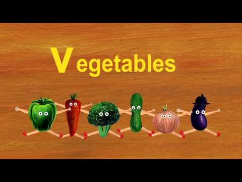 "Vegetables $ Violin - Lower Case Alphabet ""v"""
