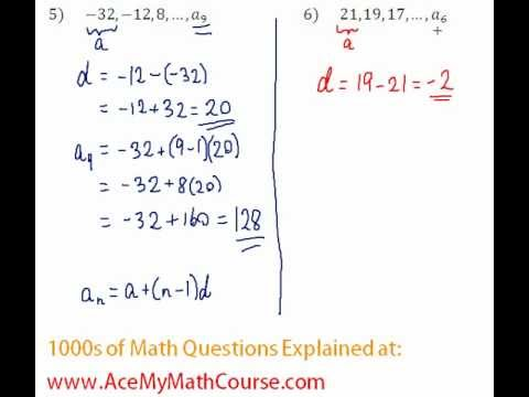 Arithmetic Sequences - Finding the Given Term Question #6
