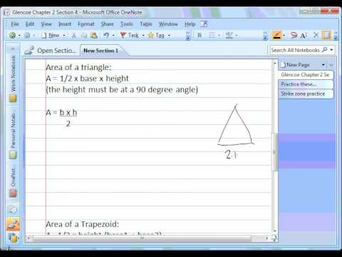 Area of parallelograms triangles and trapezoids