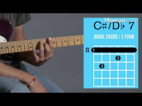 How to Play Guitar: Beginners / Barre Chords: C Sharp 7/D Flat 7