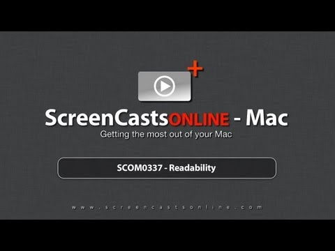 Trailer for SCOM0337 - Readability on the Mac