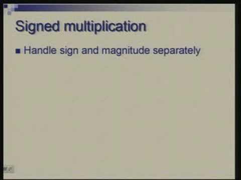 Lecture -13 Multiplier Design