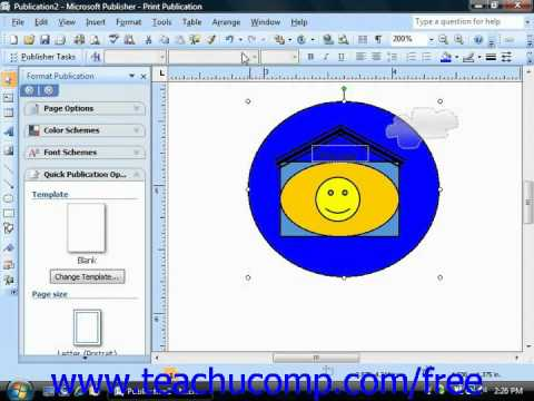Publisher 2003 Tutorial Ordering & Grouping Objects Microsoft Training Lesson 6.7