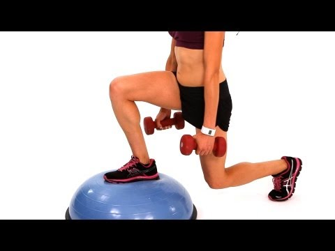 How to Do a Backward and Forward Lunge with a Bosu Ball | Exercise Ball Workout