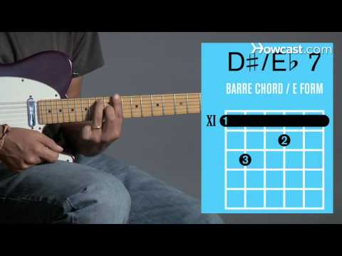 How to Play Guitar: Beginners / Barre Chords: E Flat 7/D Sharp 7