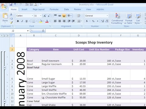 Excel 2007: Aligning Text