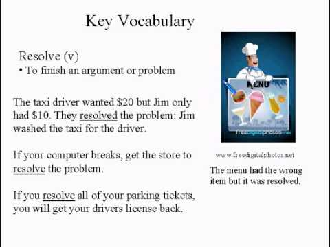 Intermediate Learning English Lesson 10 - Violence Answer  - Vocabulary and Pronunciation